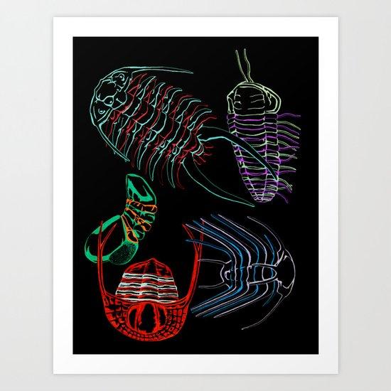 Ordovician Era Trilobites 2 Art Print