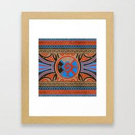 Colorful Hunab Ku Mayan symbol #4 Framed Art Print