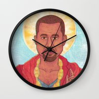 rap Wall Clocks featuring Rap God by Ashley Ross