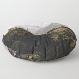 William Trost Richards - In the Adirondack Mountains Floor Pillow