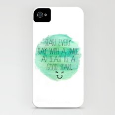 Start With a Smile iPhone (4, 4s) Slim Case