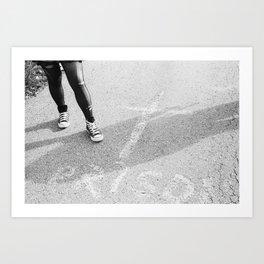 Faceless Rebel Art Print