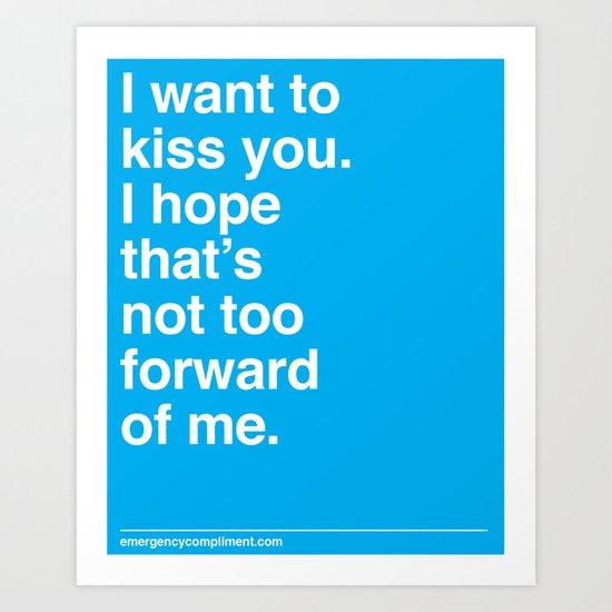 Kiss You Art Print