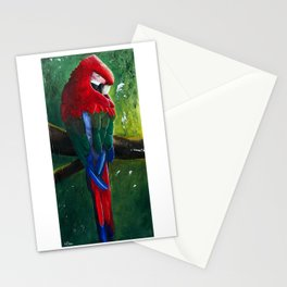 """Aras parrot - """"A morning like the others"""" - by LiliFlore Stationery Cards"""