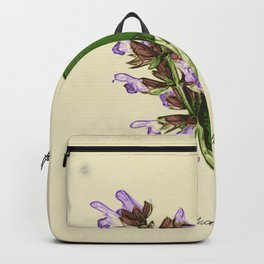 Vintage botanical print - Clary Sage Backpack