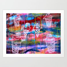 Creamscape Art Print