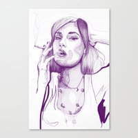 sasha grey Canvas Prints featuring Sasha Grey Portrait by Mattew Draw