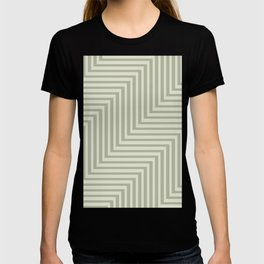 Geometric Muted Op Art Zig Zag Pattern T-shirt