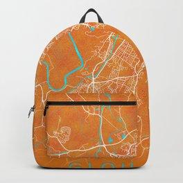Gloucester, England, Gold, Blue, City, Map Backpack