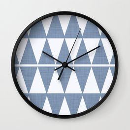 Minimal geometric - denim blue Wall Clock