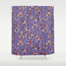 William Kilburn Garden in purple Shower Curtain
