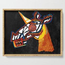 Basquiat Skull Unicorn Serving Tray