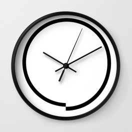 Circle obsessive compulsive Wall Clock