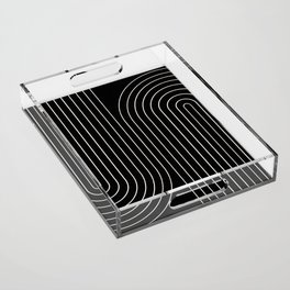 Minimal Line Curvature II Acrylic Tray