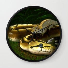 Crested Gecko And Ball Python Art Wall Clock