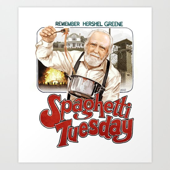 Hershel Greene Spaghetti Tuesday Art Print
