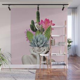 Cactus Lady Wall Mural