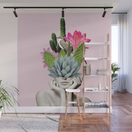 Cactus Lady Wall Mural
