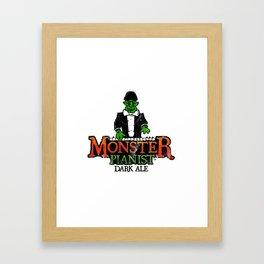 Monster Pianist Dark Ale logo weathered Framed Art Print
