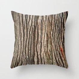 Wood bark Throw Pillow