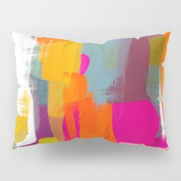 color study abstract art 2 Pillow Sham