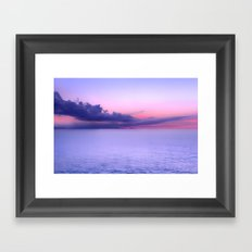 Sunset Indigo Mood Framed Art Print