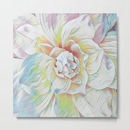 Soft Pastel Floral Expression Metal Print