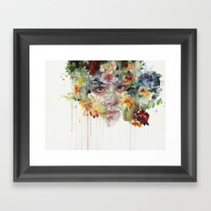 quiet zone Framed Art Print