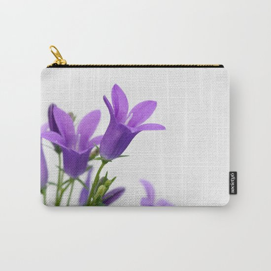 PURPLE FLOWERS - Bellflowers #1 #decor #art #society6 Carry-All Pouch