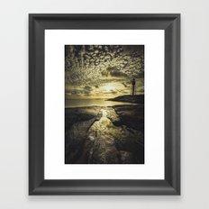 Good night sweet sun Framed Art Print