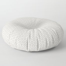 Hexagon Light Gray Pattern Floor Pillow