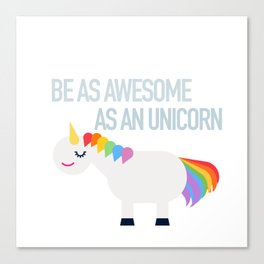 Awesome Unicorn Canvas Print