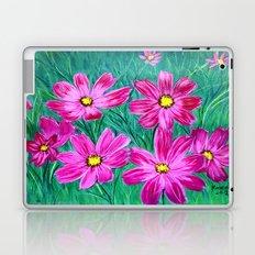 Pink wildflowers Laptop & iPad Skin