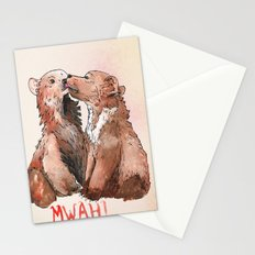 Bear cub kiss Stationery Cards