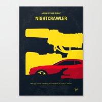 No794 My Nightcrawler minimal movie poster Canvas Print