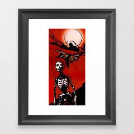 Wandering Skull Framed Art Print