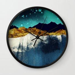 Evening Stars Wall Clock