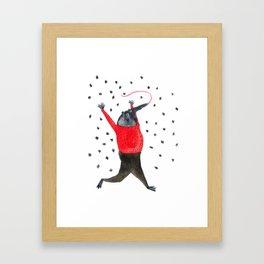 He Dreams of Ants Framed Art Print