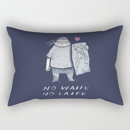 no waifu no laifu Rectangular Pillow