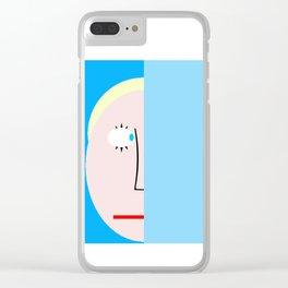 bbnyc hiding blond boy Clear iPhone Case