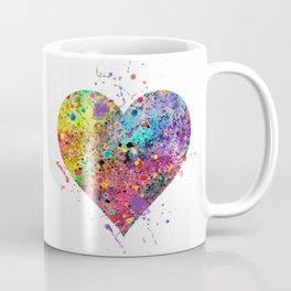Heart Watercolor Art Love Gift Valentine's Day Gift Wedding Art Engagement Gift Coffee Mug