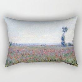 Claude Monet Poppy Field Rectangular Pillow