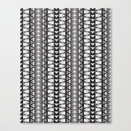 Triangle Kilim in Grayscale Canvas Print