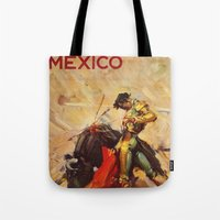 mexico Tote Bags featuring MEXICO by Kathleen Casey