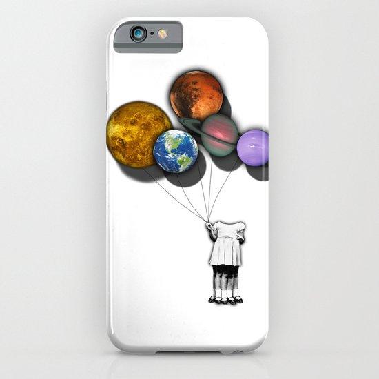 Planet balloon girl iPhone & iPod Case