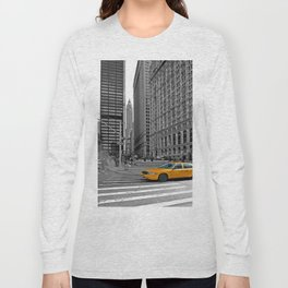 NYC - Yellow Cabs - Trinity Place Long Sleeve T-shirt