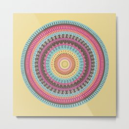 Mandala Shield Metal Print