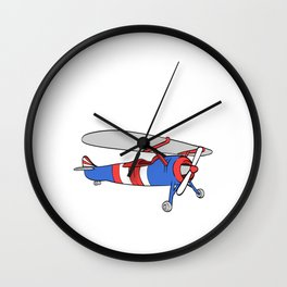 """Plane Shirt For Pilot """"This Is My Plane Shirt"""" T-shirt Design Fly Flying Clouds Drive Airplane Air Wall Clock"""