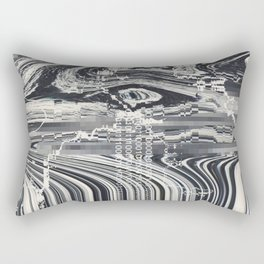 Eye Glitch Art Rectangular Pillow