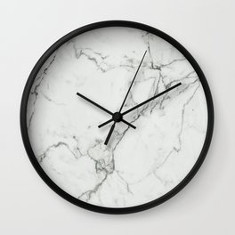 White Marble Texture. Wall Clock